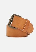 Jack & Jones - Jakob leather belt - mocha bisque
