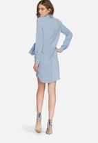 Missguided - Crepe wrap shirt dress