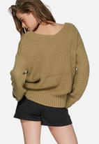 Missguided - V-neck cable jumper