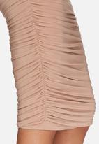 Missguided - Slinky gathered midi skirt