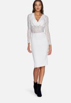 Missguided - Contrast lace cowl dress