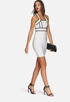 Missguided - Bandage cross midi dress