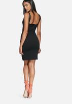 Missguided - Square neck side split dress