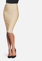 Missguided - High waisted bandage midi skirt