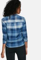 ONLY - Nori check denim shirt