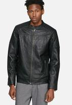 Selected Homme - London leather jacket