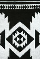 Sixth Floor - Mono kilim throw