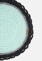 Sew Hooked - blue round mat