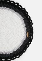 Sew Hooked - Monochrome round mat