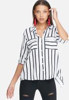 dailyfriday - Split back stripe shirt