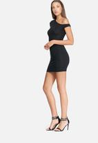 Missguided - Slouch off shoulder t-shirt dress