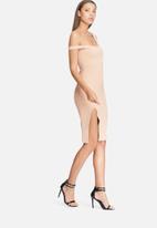Missguided - Bardot strap midi dress