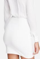 Missguided - Sheer plunge shirt dress