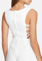 dailyfriday - Lace up playsuit