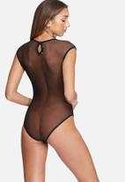 dailyfriday - Crepe bodysuit with mesh insets