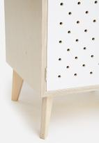 Sixth Floor - Cosmo birch pedestal - white