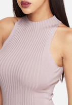 Missguided - Rib sleeveless mini dress