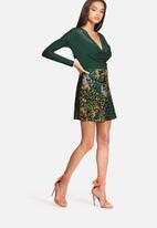 Missguided - Animal print scuba skirt