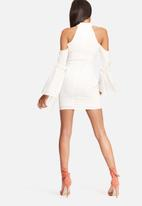 Missguided - Frill cuff cold shoulder dress