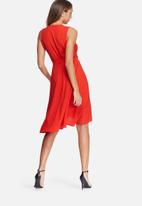 dailyfriday - Frill midi wrap dress