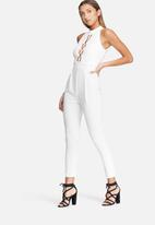 dailyfriday - High neck lace up jumpsuit