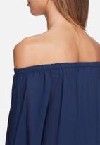 dailyfriday - Off shoulder texture tie top