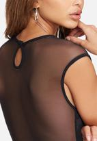 dailyfriday - Scuba bodysuit with mesh insets