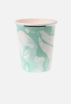 Meri Meri - Marble mint party cups