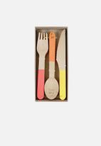 Meri Meri - Neon detail wooden cutlery