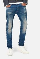 G-Star RAW - 3301 Slim Firro Stretch Denim - Medium Aged