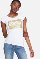 GUESS - Glitter logo tee