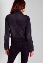 Missguided - Cropped Raw Hem Denim Jacket