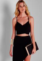 Missguided - Wrap Over Crepe Crop Top