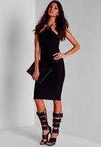 Missguided - Eyelet Halterneck Midi Dress