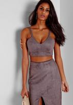 Missguided - Faux Suede Bralet