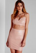 Missguided - Faux Leather Mini Skirt