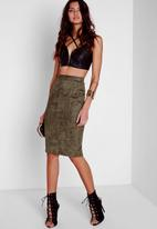 Missguided - Faux Suede Midi Skirt