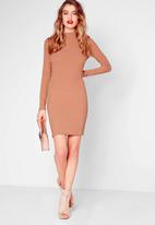 Missguided - High-neck bodycon dress