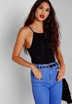Missguided - Tassel Crepe Bodysuit