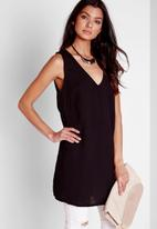 Missguided - Plunge Neck Tab Back Cami Top