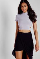 Missguided - Cut Out Slinky Crop Top