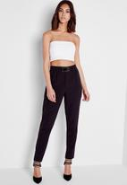Missguided - Buckle Detail Cigarette Trousers