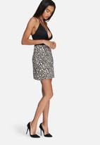 Missguided - Jacquard A-line mini skirt