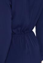 Missguided - Wrap front shirt playsuit