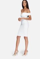 Missguided - V-neck bardot midi dress