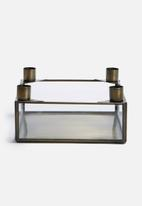 Sarah Jane - Brass square candle holder