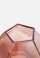 Sarah Jane - Blush hex vase