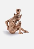 Sarah Jane - Copper monkey candle holder