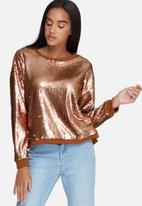Daisy Street - Relaxed sequin sweat