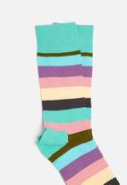 Happy Socks - Dot Gift Box - Purple - Blue - Moss Green